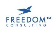 Logo Freedom blå